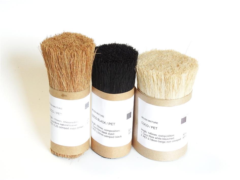 Coco fibre/ PET Brush Mixtures