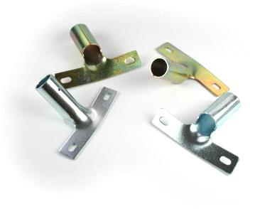 Metal holders, zinc-plated, stick Ø 22mm, holes distance 90mm